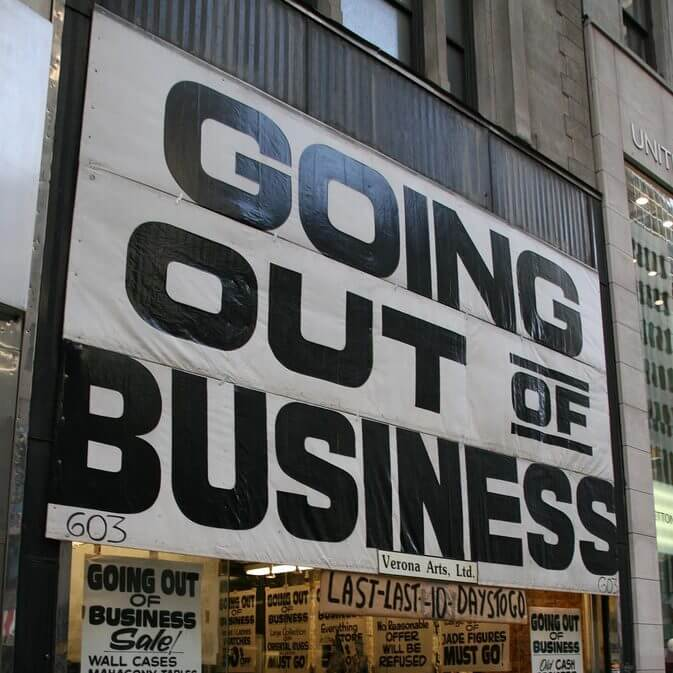 Don't let this be the only sign customers see at your business. Work with a sign company today!